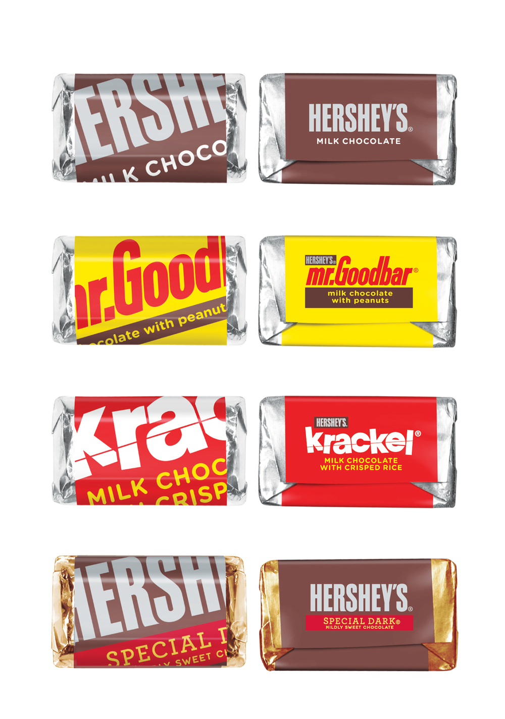 Before & After: Hershey's Miniatures — The Dieline