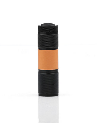 A LED flashlight with 5 hours runtime.