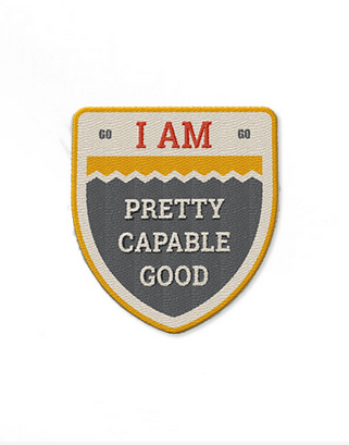 A badge to motivate you and give you the confidence needed for you presentation.