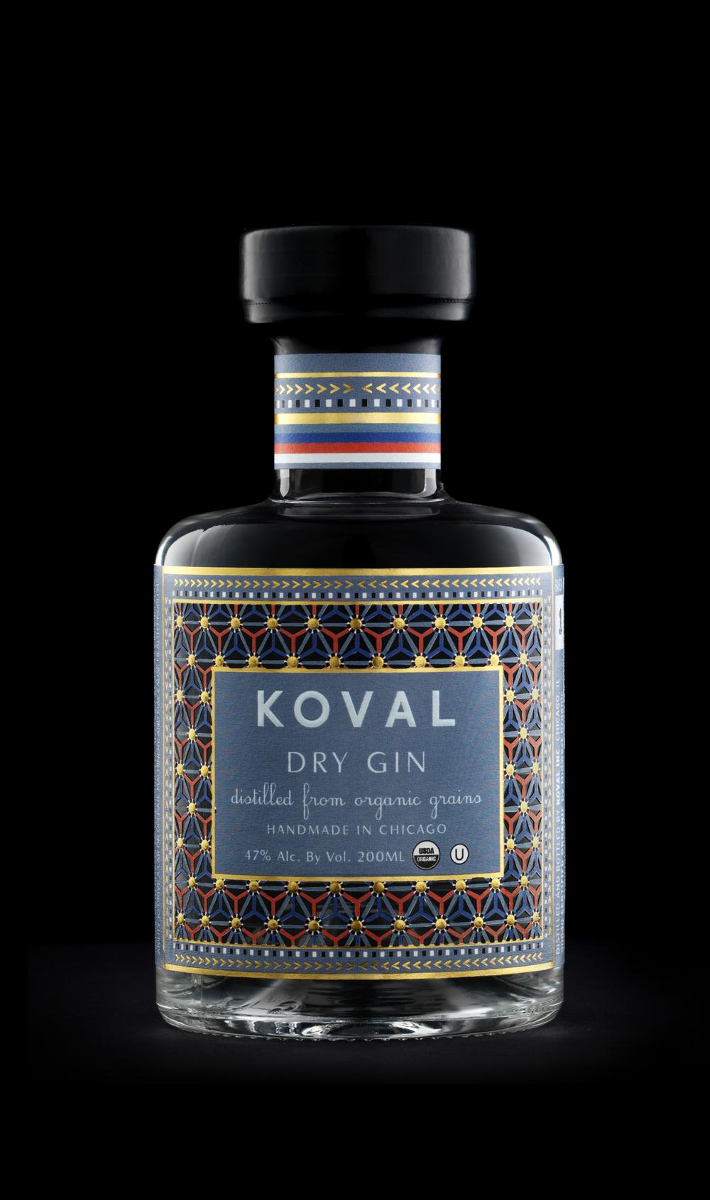 Koval Dry Gin The Dieline Branding Amp Packaging