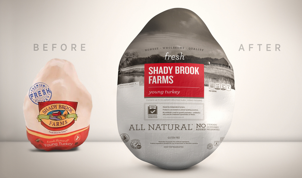 Before amp After Shady Brook Farms Fresh Turkey The