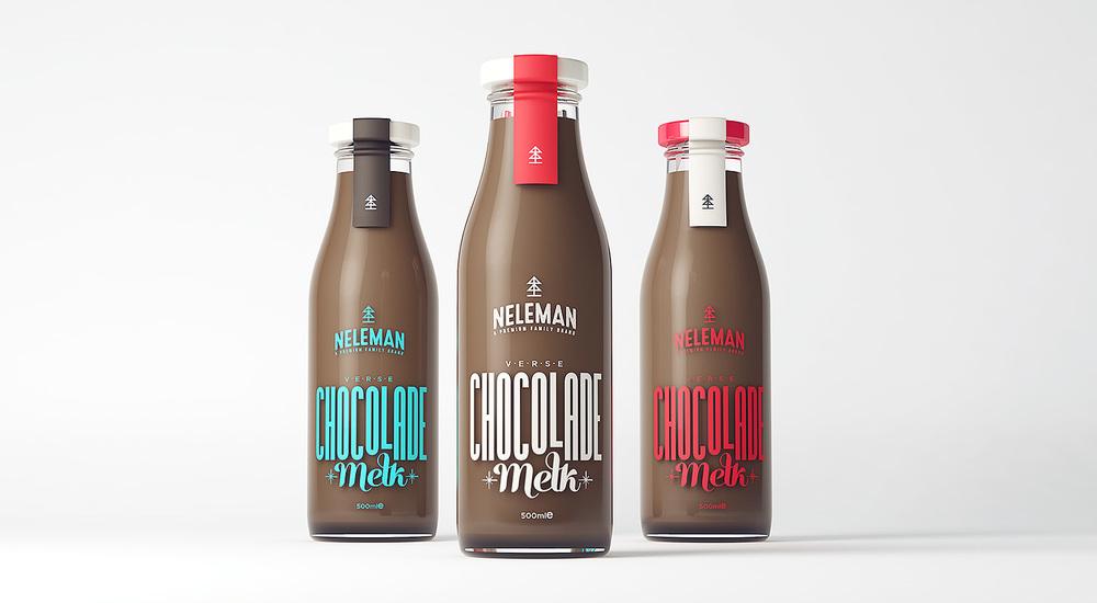 Neleman Fresh Chocolate Milk — The Dieline | Packaging & Branding ...