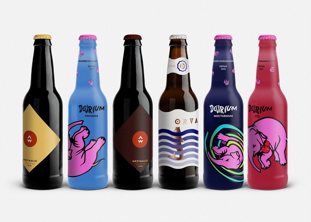 Concept: Belgian Beers — The Dieline | Packaging ...
