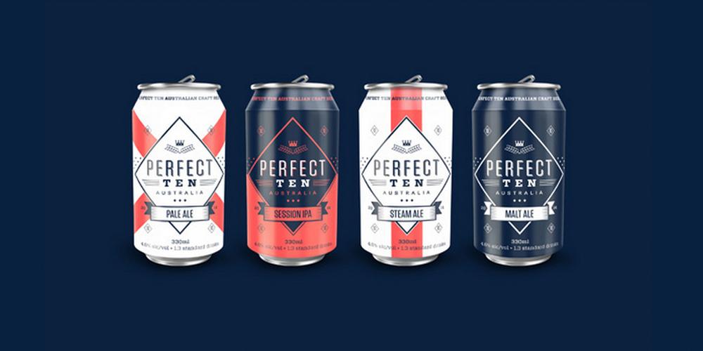 Perfect Ten Craft Beer Dieline