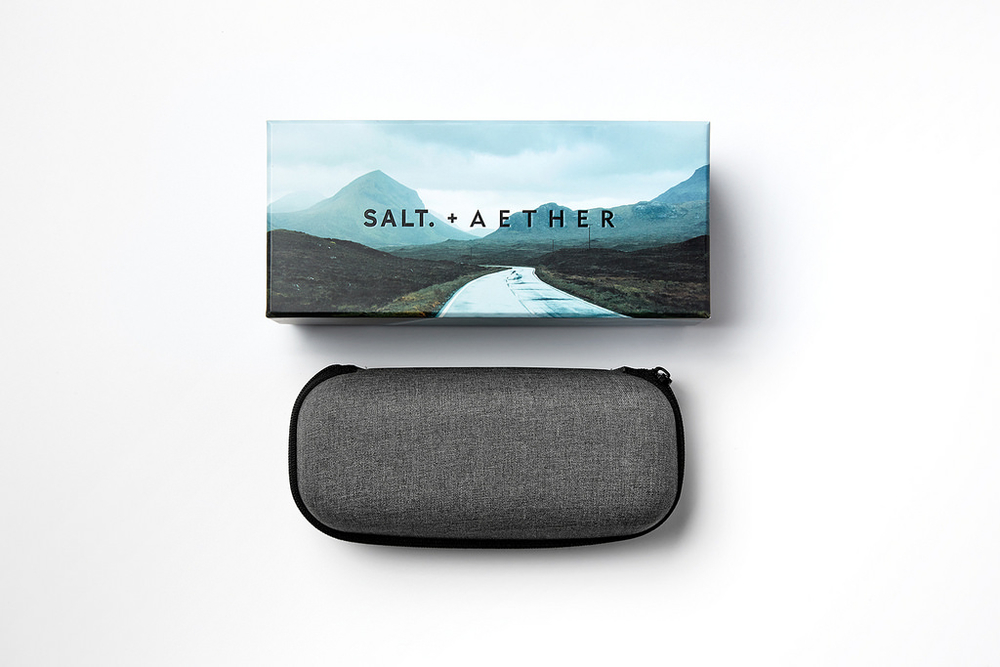 SALT. + AETHER EYEWEAR — The Dieline | Packaging & Branding Design ...