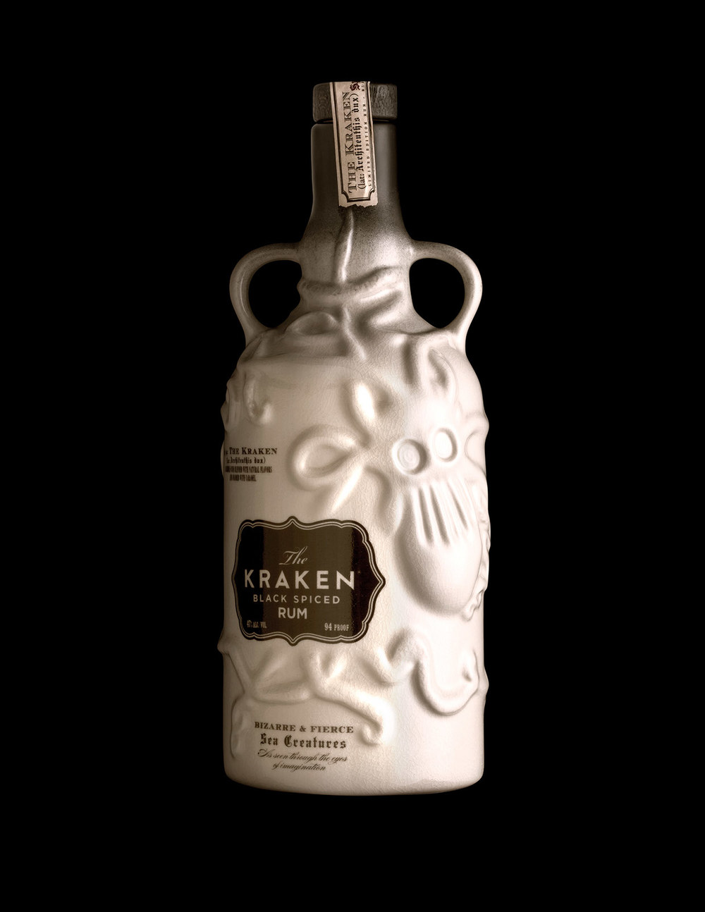 Kraken ceramic the dieline packaging branding design - Kraken rum pictures ...