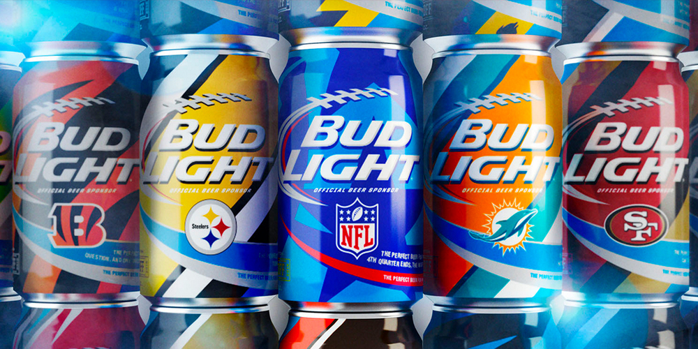 Bud light nfl cans the dieline branding amp packaging design