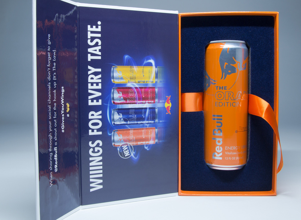 Red Bull Orange Edition Influencer Kits The Dieline