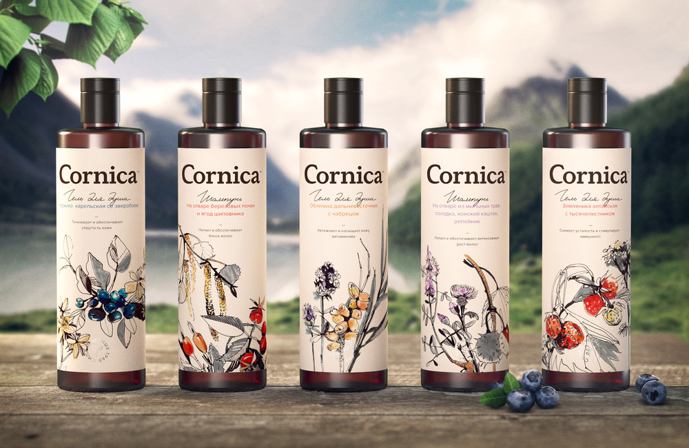 Natural Cosmetic Cornica Is The Result Of Research And Medicinal Properties Wild Herbs Berries Fruits Shrubs Roots Siberia