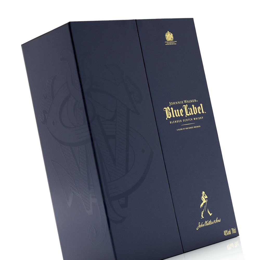 johnnie walker blue label  u2014 the dieline