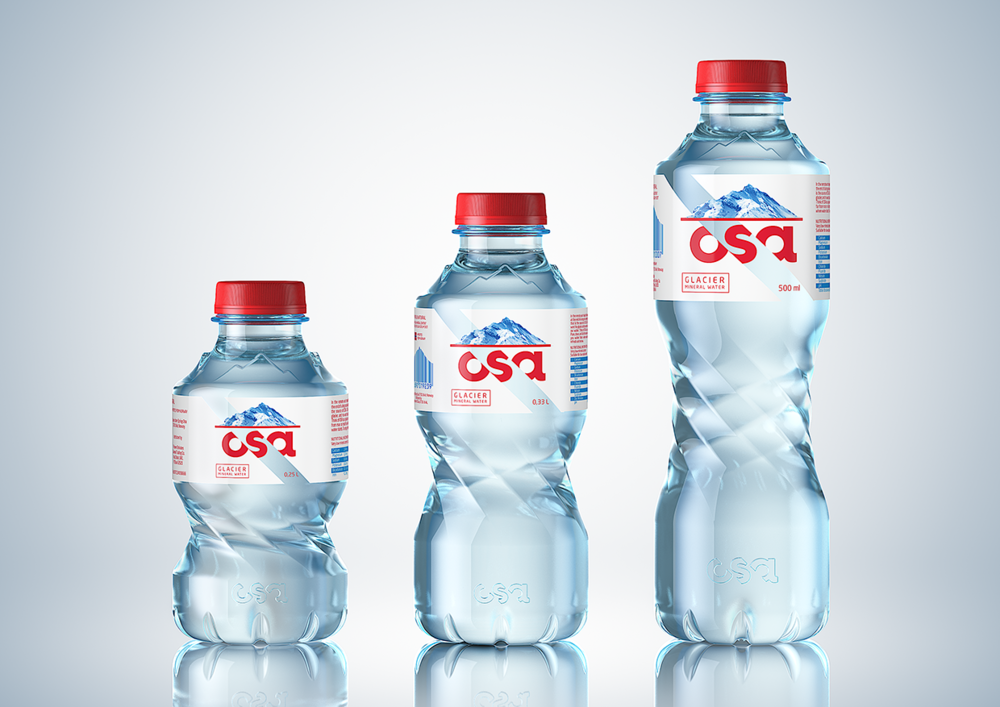osa mineral water packaging design