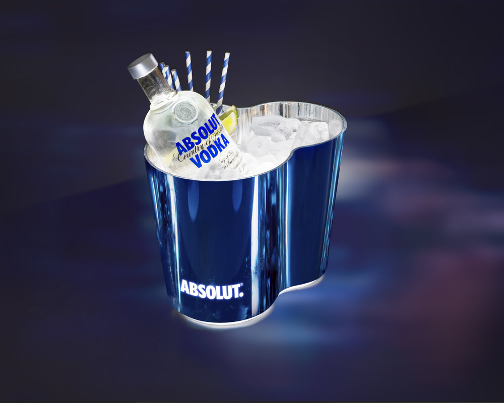 absolut 39 beats 39 bottle glorifier ice bucket the. Black Bedroom Furniture Sets. Home Design Ideas