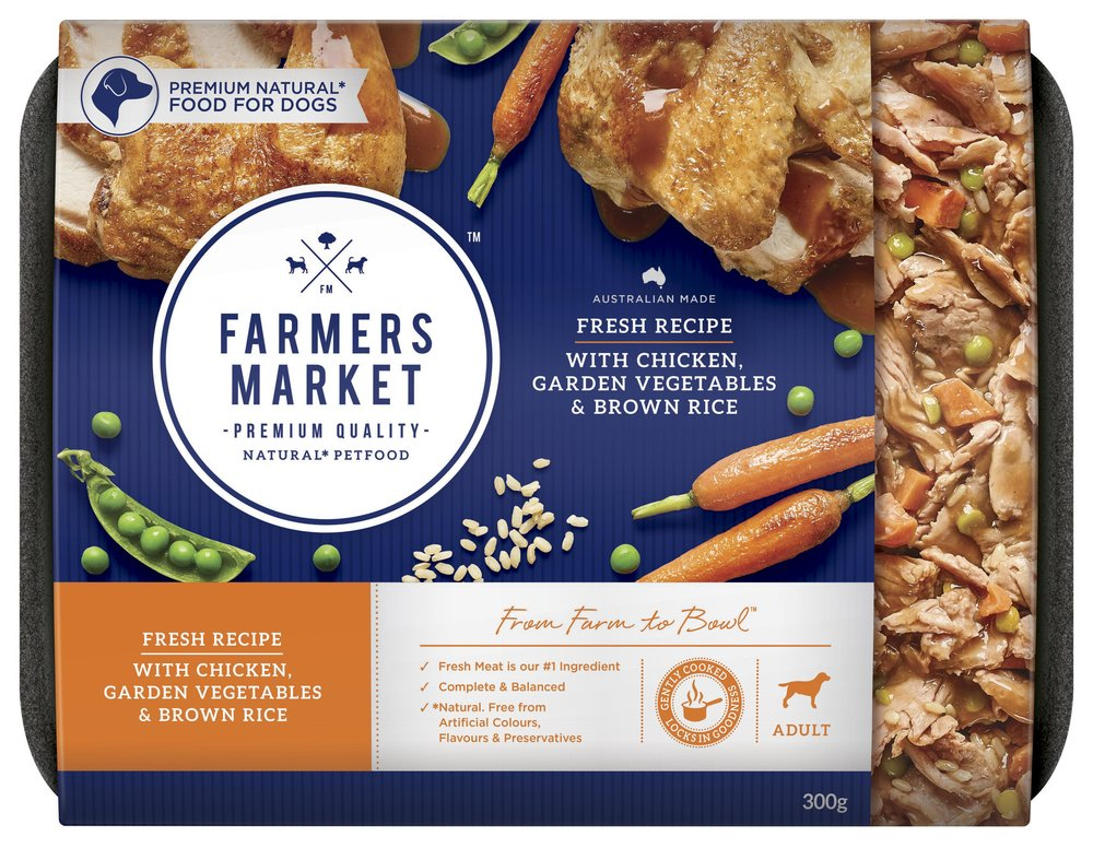 Farmers market natural pet food the dieline packaging branding a brand which will set a new benchmark in the pet food category providing superior taste as well as excellent nutrition from real natural ingredients forumfinder Image collections