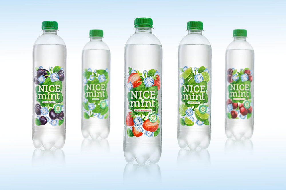 Nice mint sparkling water the dieline packaging for Sparkling water mixed drinks