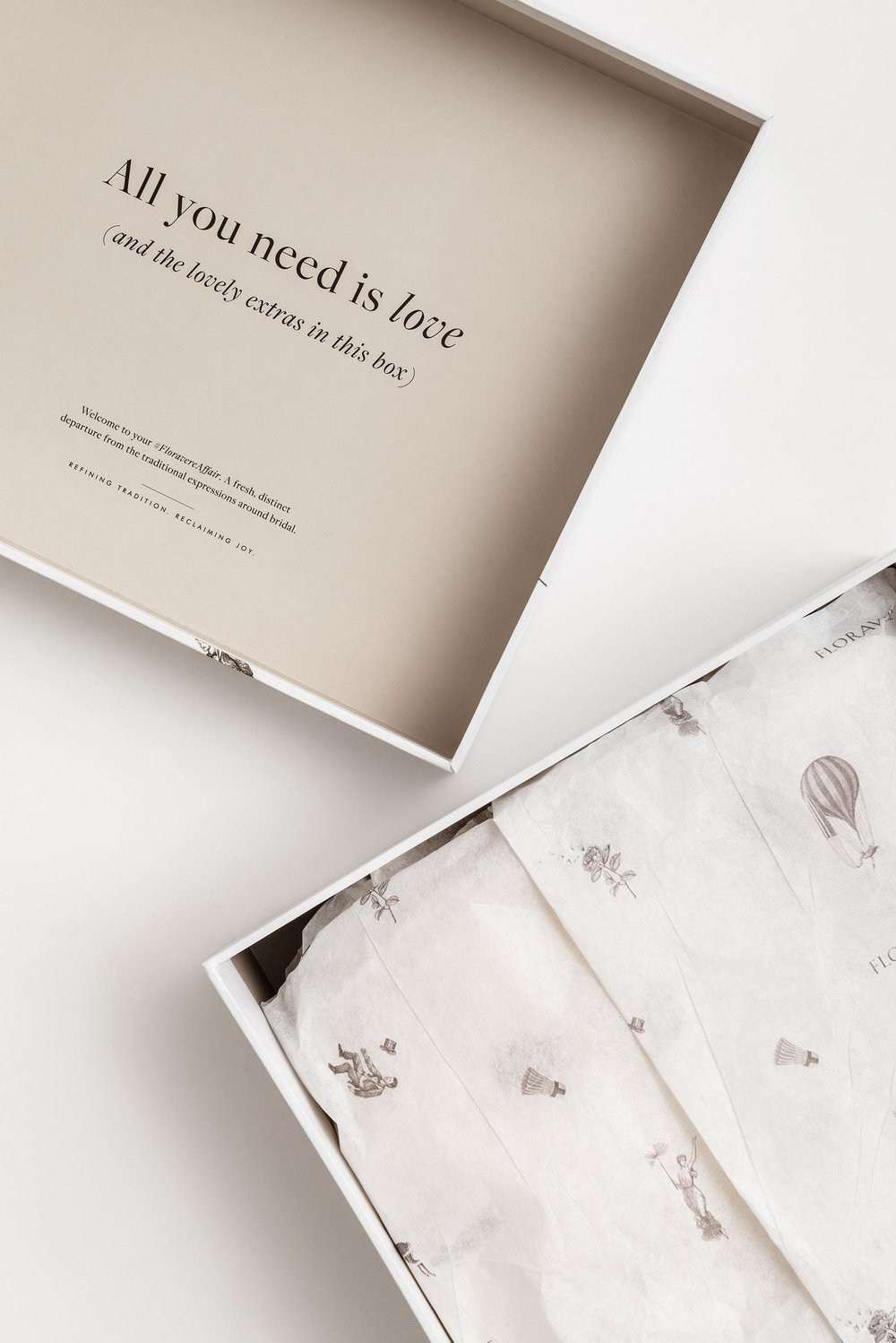 Floravere wedding gowns the dieline packaging for Acid free cardboard box for wedding dress