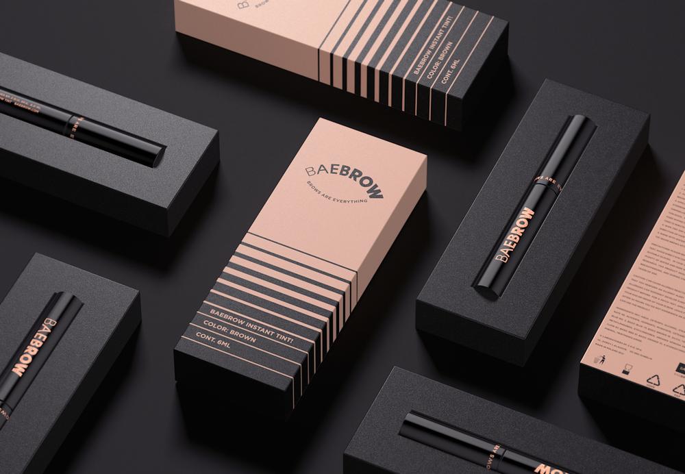 Baebrow Cosmetics The Dieline Packaging Amp Branding