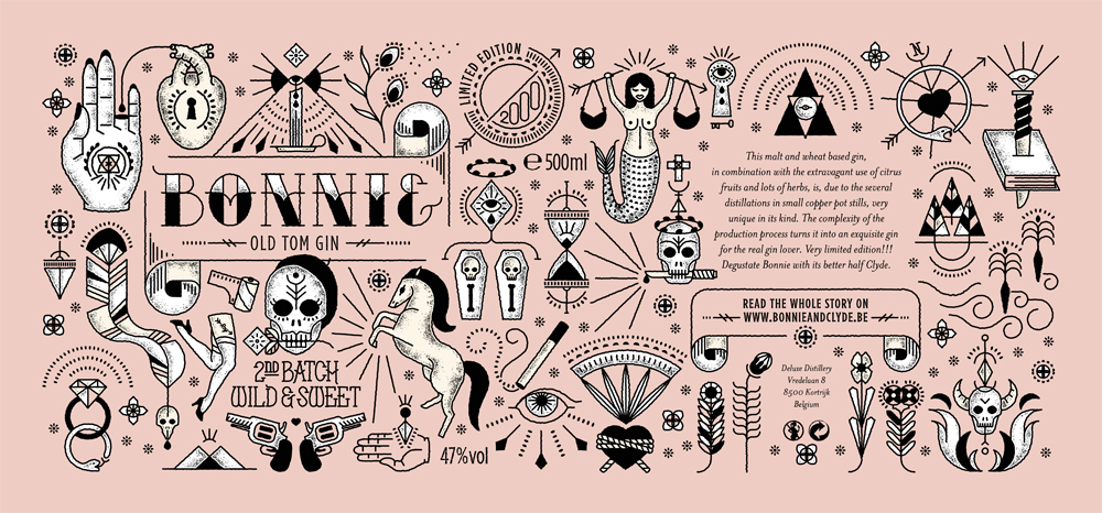 Bonnie And Clyde Tattoo: Bonnie & Clyde Gin Is All You Need In This Life Of Sin