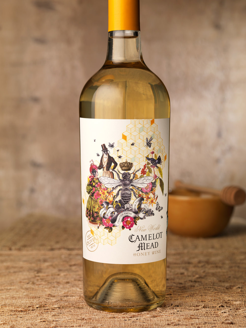 The Unique Collage Of Camelot Mead Honey Wine The