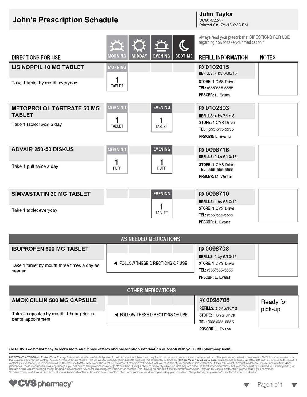 CVS-PrescriptionSchedule