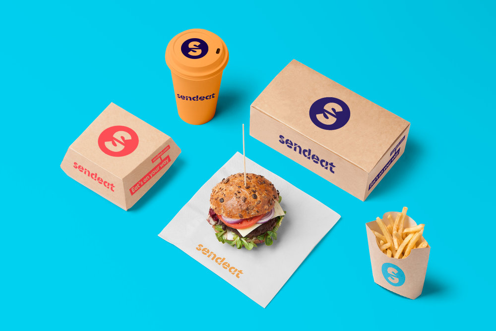 SendEAT Is An Online Food Delivery Company Operating In The Portuguese Market They Approached VOLTA Search Of A New Name Visual Identity And Website