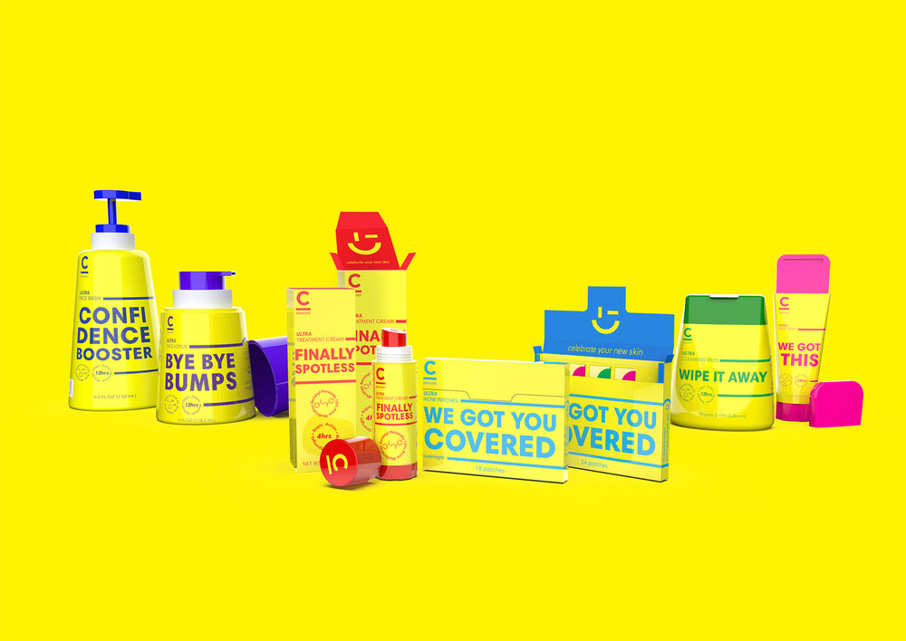 99d32ab74d3e This Concept For Clearasil is a Bold Take on Skincare Packaging ...