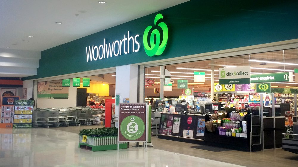 Generic Woolworths Store pictures. ### Picture taken in Dogs Swamp shopping centre without permission.
