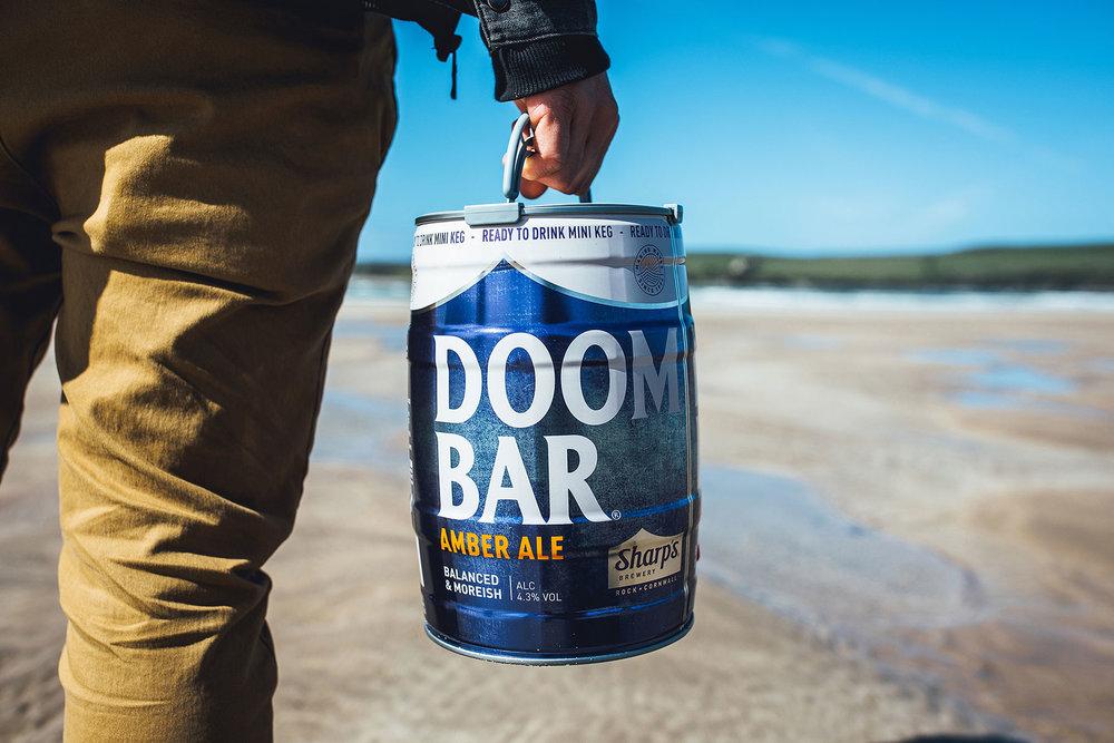 Doom Bar Keg Glass
