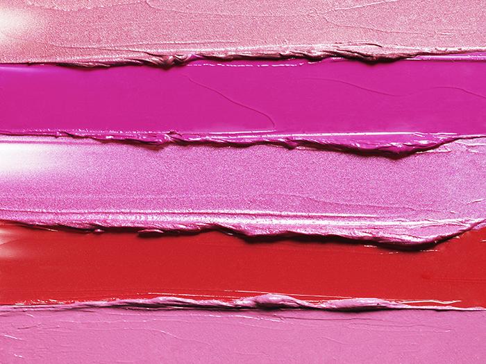 Smeared lipsticks