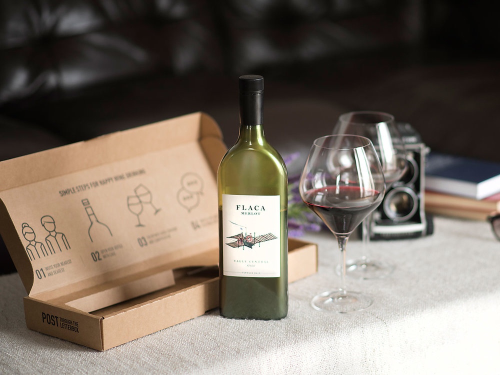The World's First Flat Wine Bottle Fits Through A Letterbox Slot