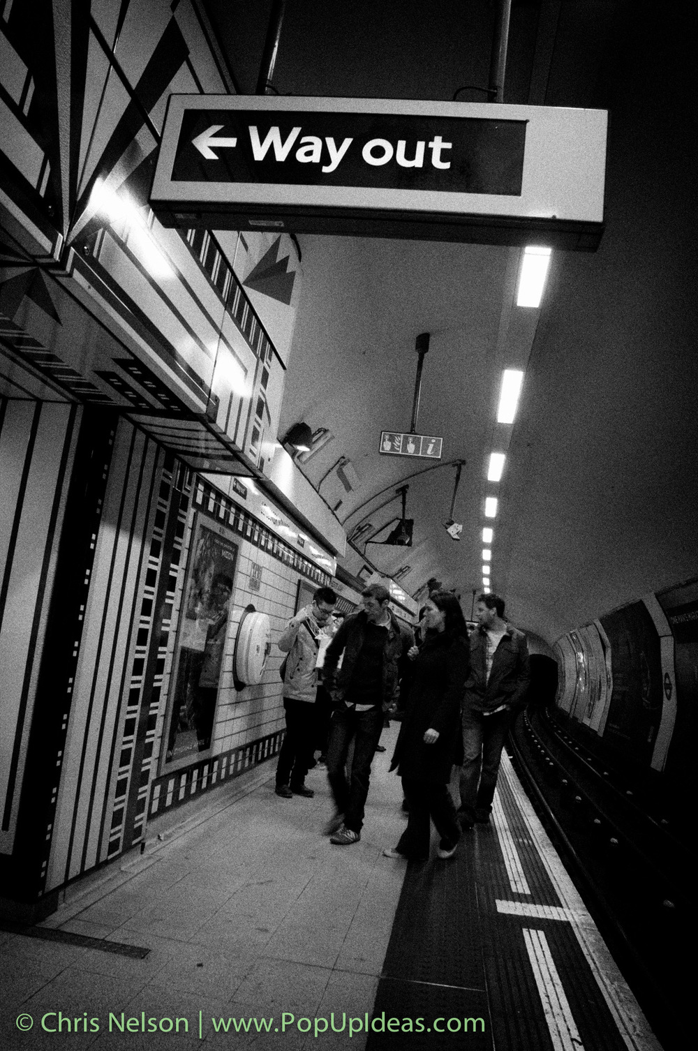 Street photography in the London Underground