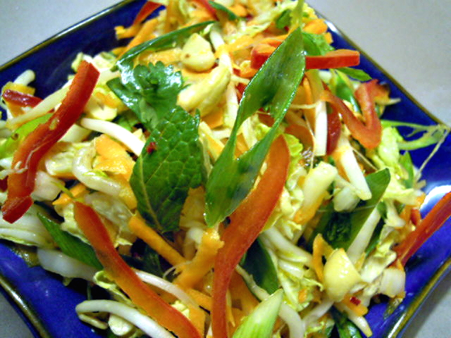 A herbaceous and nutritious Asian salad.