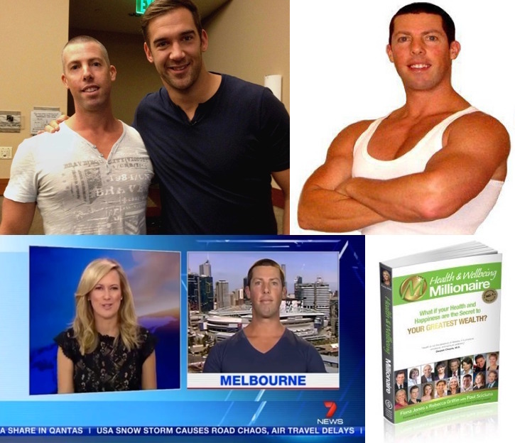 paul scicluna - 44 yo CPT, Fat Loss & Body Transformation Specialist, health coach, and #1 International best-selling author. Pictured with Lewis howes (former us pro footballer), featured in the media, and the #1 best-selling book.