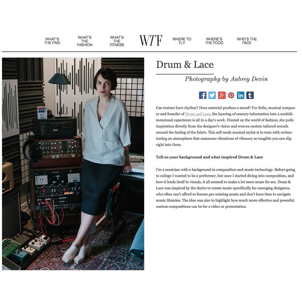 WTF Digital story -http://www.wtfdigital.com/drum-lace/