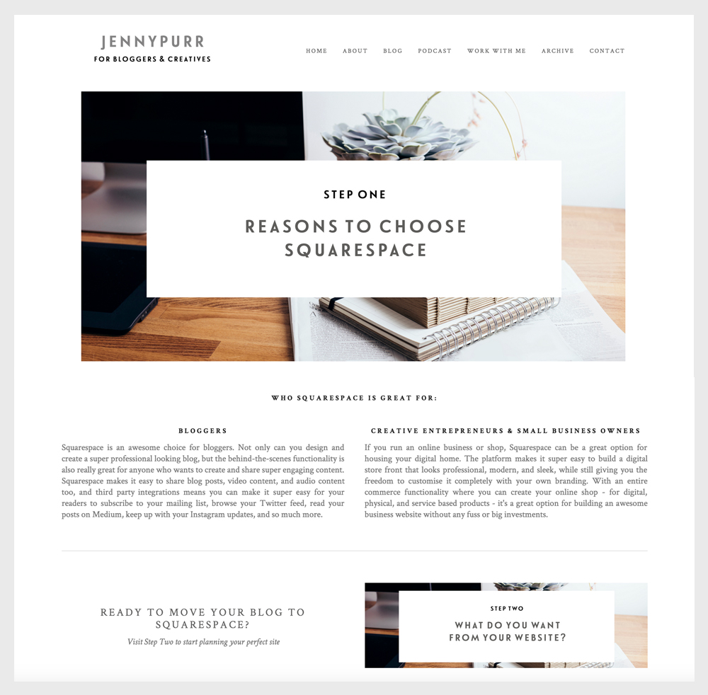 Paper + Oats | My 3 favorite Squarespace workarounds