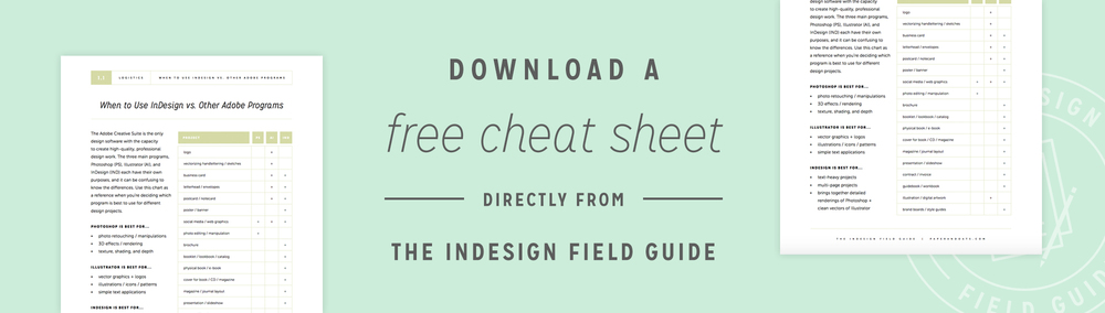 The InDesign Field Guide by Paper + Oats — www.theindesignfieldguide.com
