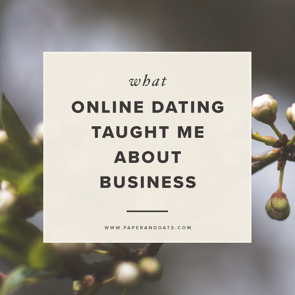 What online dating taught me about business – Paper + Oats