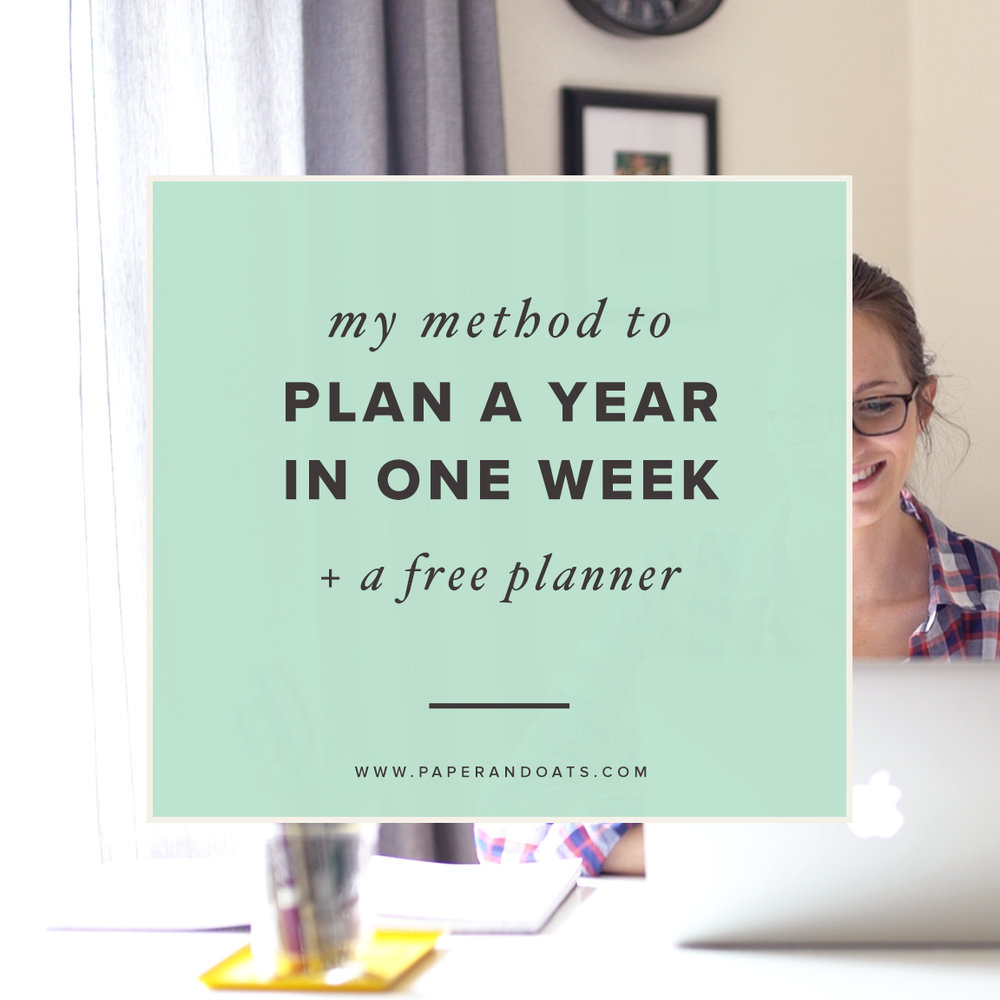 My method to plan a year in one week (+ free planner) – by Paper + Oats