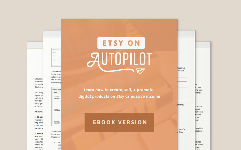 Etsy on Autopilot Ebook Version - Paper + Oats