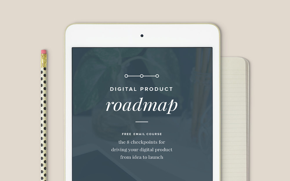 Digital Product Roadmap - free email course by Paper + Oats