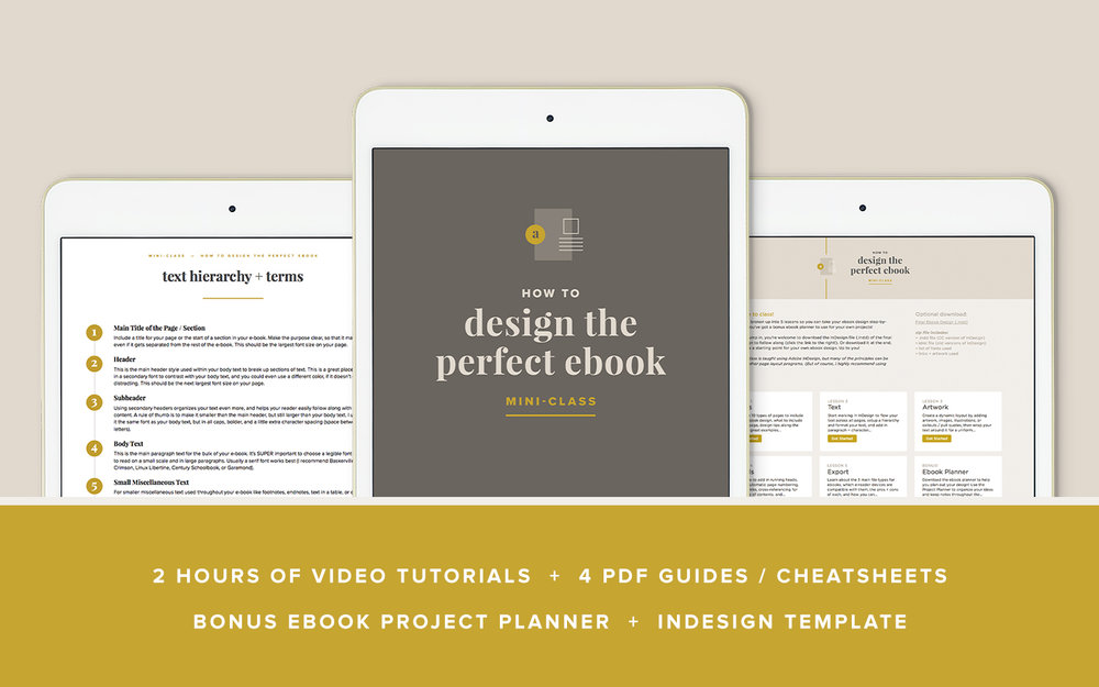 How to Design the Perfect Ebook – mini class by Paper + Oats