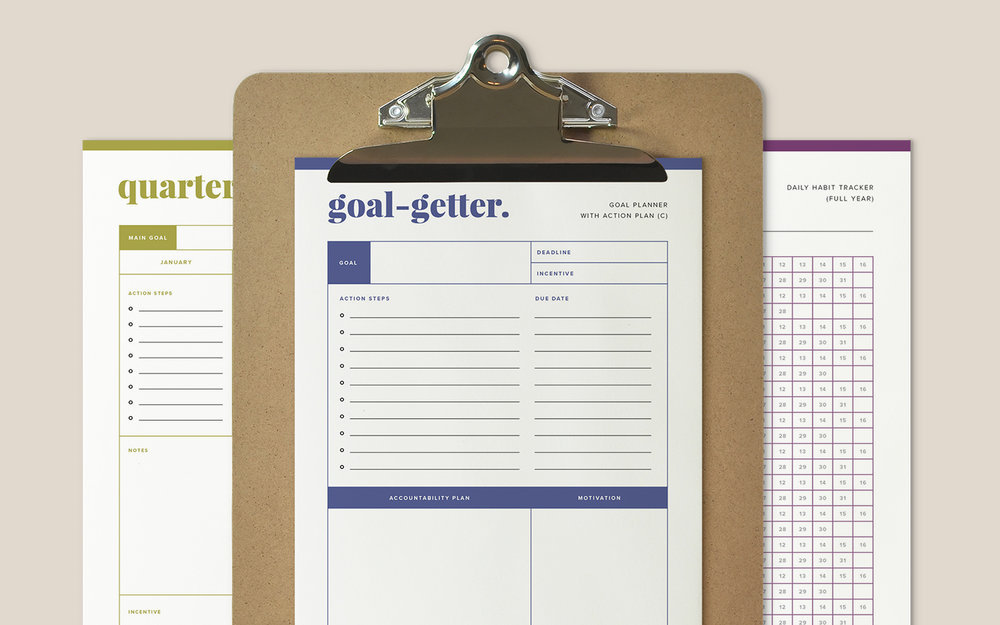 Goal Setting Planner by Paper + Oats