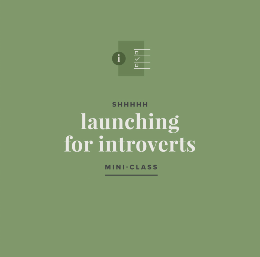 Launching + Marketing for Introverts – Mini Class by Paper + Oats