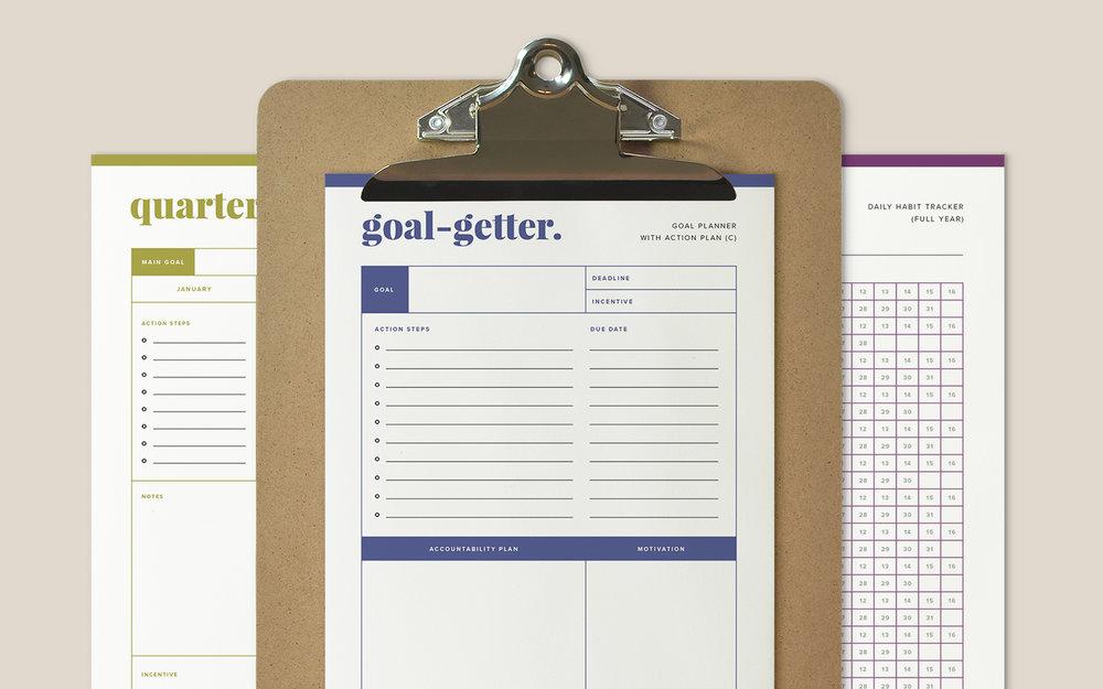 Goal Planning Kit by Paper + Oats — www.paperandoats.com/shop