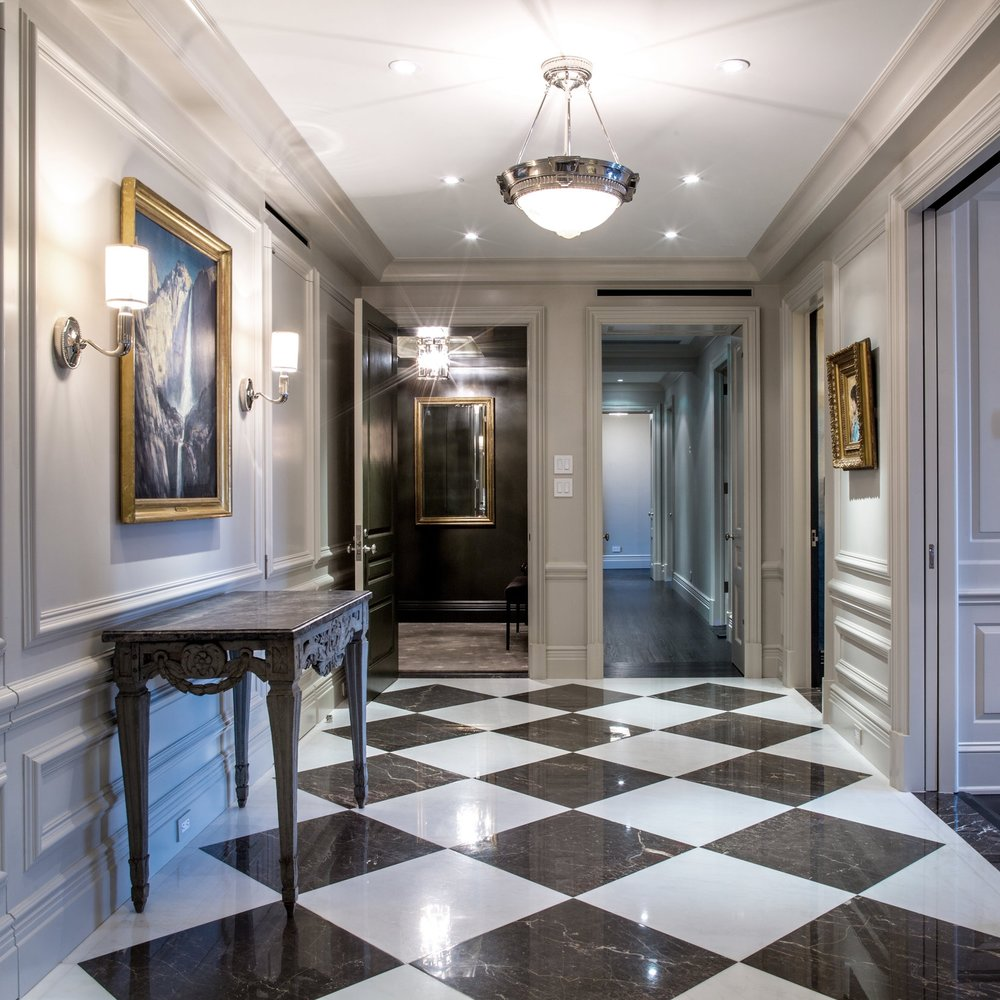 a floor through on park avenue -