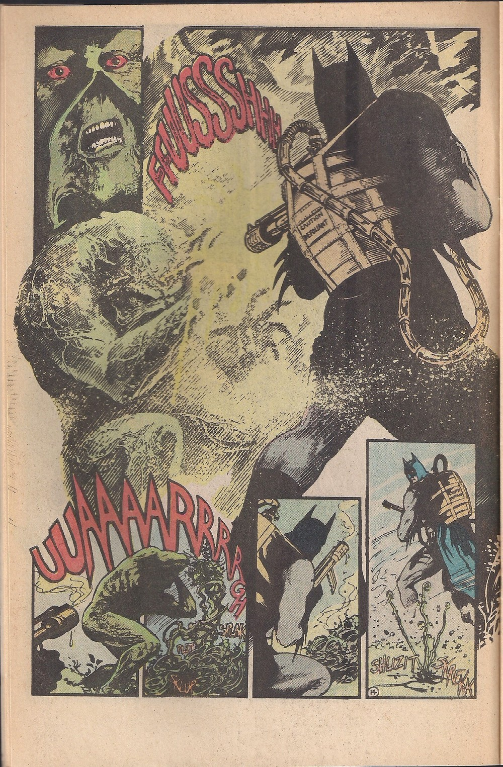 Batman is about to find out that Swamp Thing is RoundUp resistant!