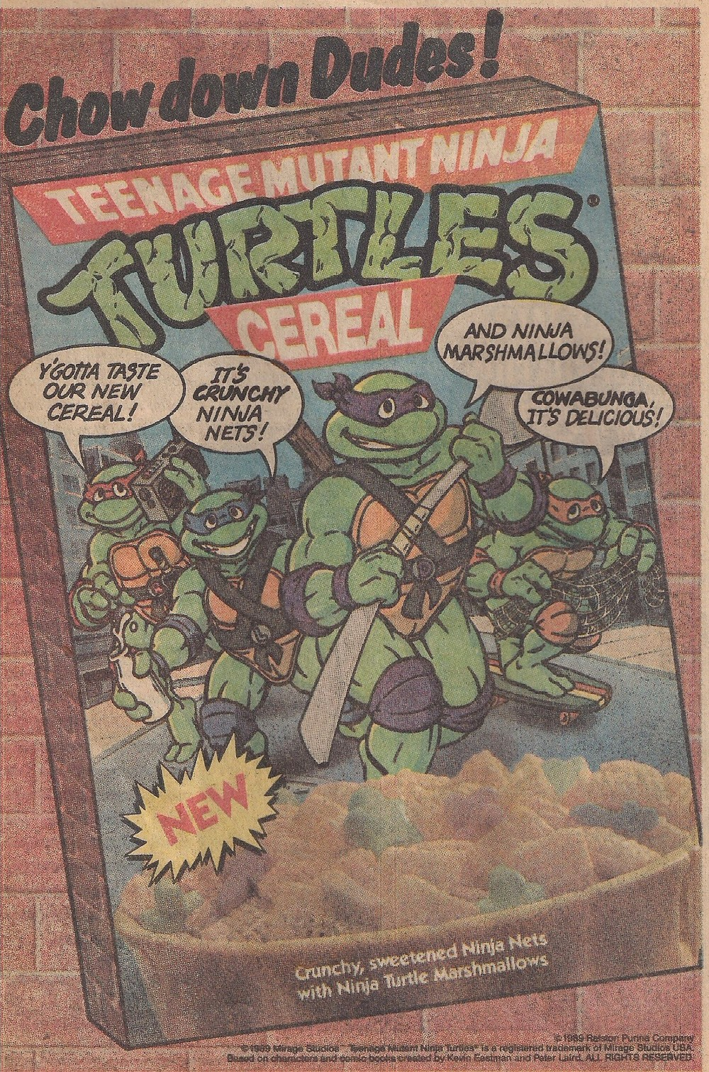 I thought the Ninja Turtles only ate pizza!