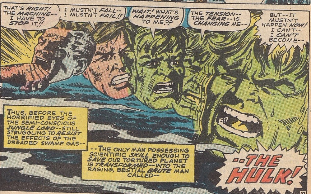 Another Hulk book, another great transformation scene.