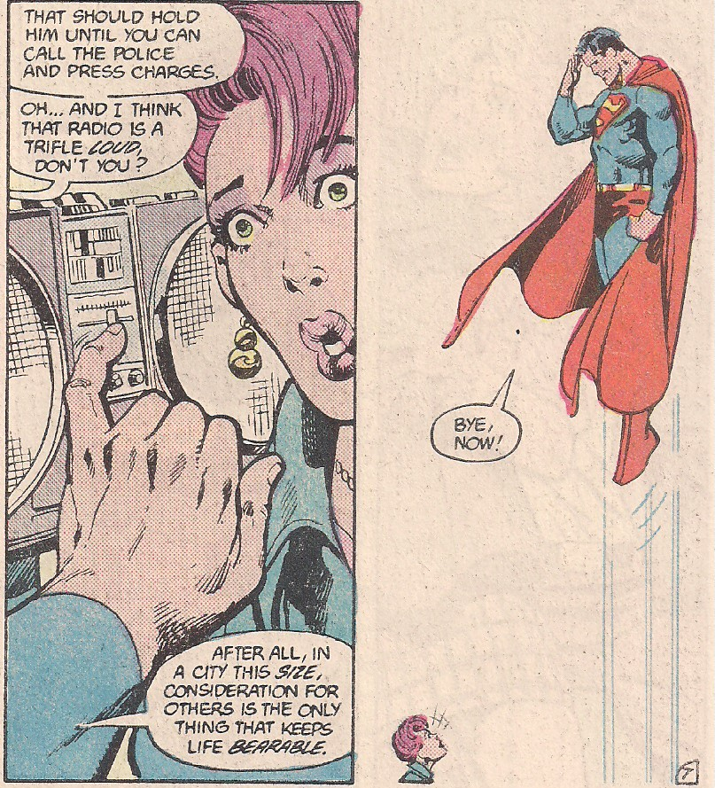 """""""Bye, Now!"""" Byrne channeling Christopher Reeve."""