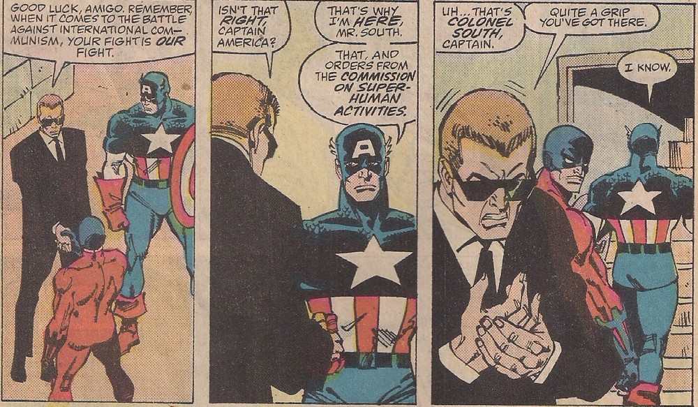 This new Captain America has to learn that guys with flattops like that are never the good guys.