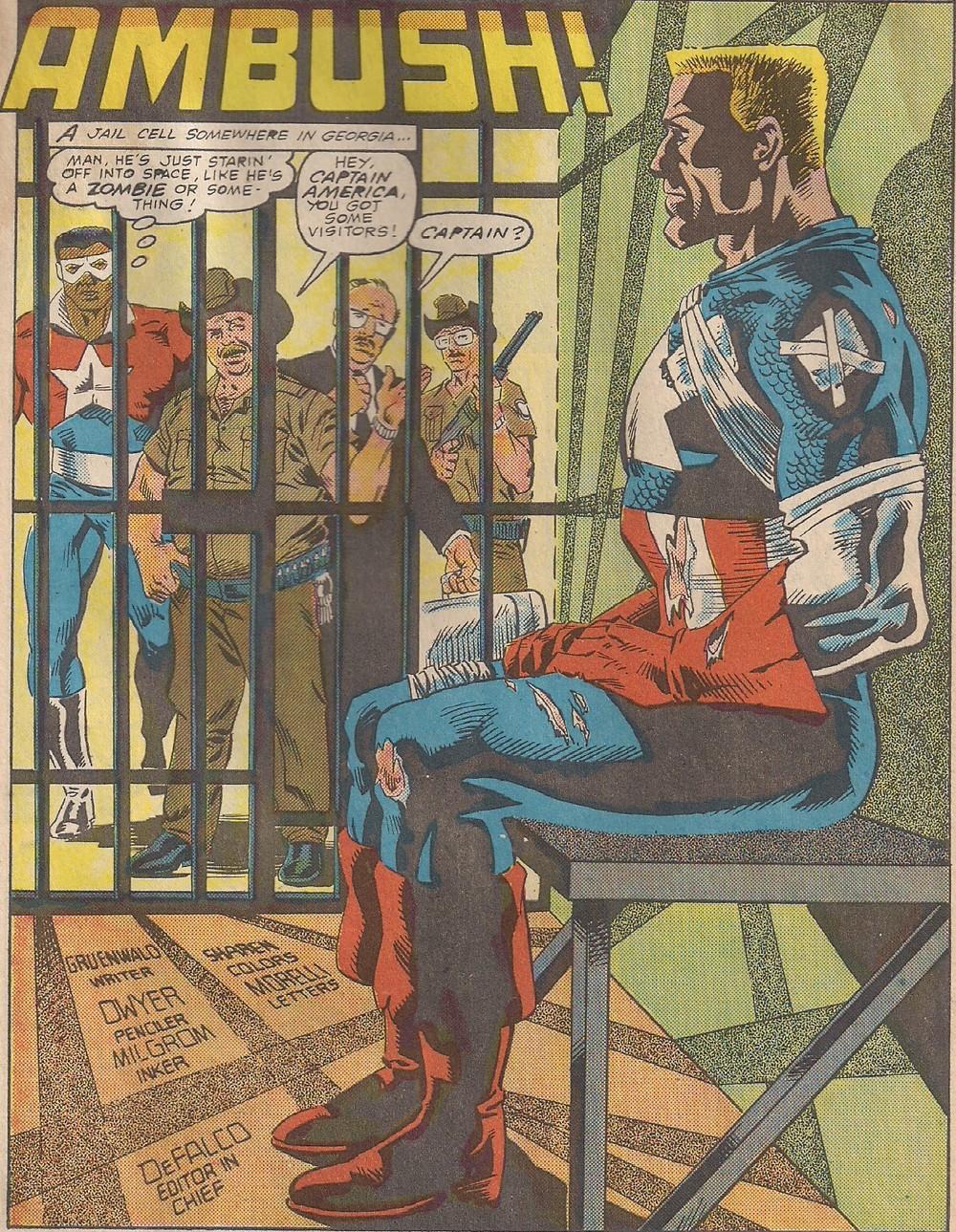 Looks like Captain America has been taken in by Boss Hogg